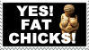Yes Fat Chicks Stamp by LimeGreenSquid