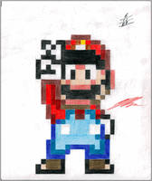 Super Mario in 16-bit by NurBoyXVI