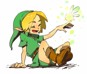 Link and Tatl by YoshinoAkie