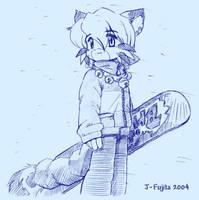 Today, snowed. by j-fujita