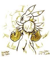 Renamon sketch by j-fujita