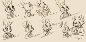 Judy Hopps sketch by j-fujita
