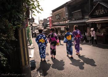 Yukata girls by aikishukiusha3