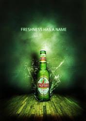 beer bottle poster by pratt29