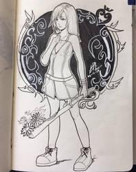 Kairi - Sketchbook Entry by rexevabonita