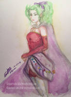 Terra Branford - Watercolor Sketch by rexevabonita