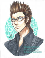 Ignis - Chocobros in Copics by rexevabonita