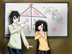 For KMK: Whiteboard doodle by Iriya-Tsubomi