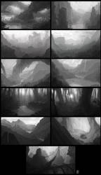 Landscape Sketches by Rahll