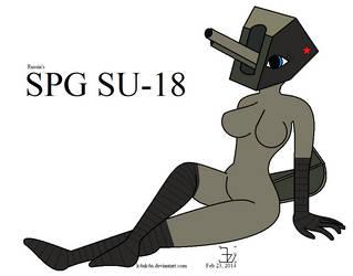 Anthro SPG _ SU-18 girl _ version 2 by K4nK4n