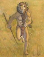 Running Lion by RuntyTiger