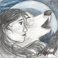 Wolf Girl: Sketch by RuntyTiger