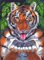 Thirsty Tiger by RuntyTiger