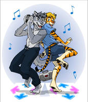 Ronnie and Devon: Dancing by RuntyTiger