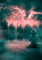 red sky by Szafulski