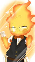 Undertale Smartphone Wallpaper - Chibi Grillby by TogeticIsa
