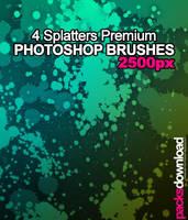 Splatters Premium Brushes by Packsdownload