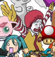 Ran Ran Ru Ronald McDonald (Asian Ronald McDonald) by BeardBeyond