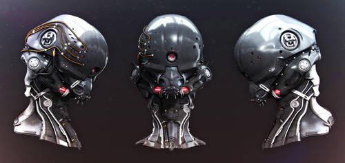 Alien Head 02 by iRj