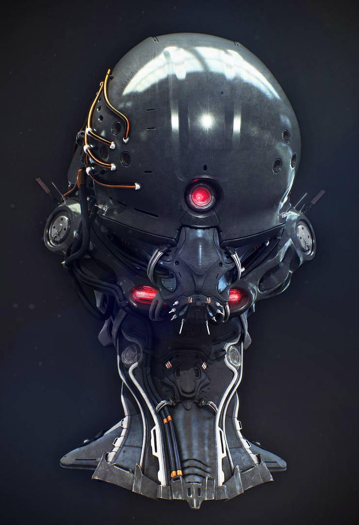Alien Head 01 by iRj