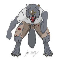Some werewolf guy by Wolf-DX