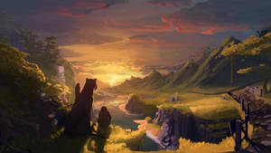 Banyan Sunset Artwork by AlexKuhn