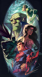 Justice League of Monk by anklesnsocks