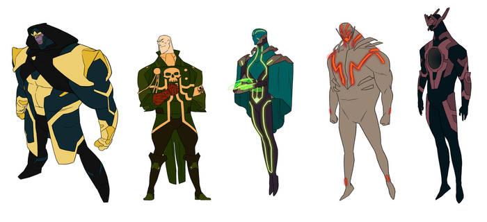 Marvel Villains by anklesnsocks