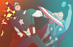 Marvel Trinity - Animated by anklesnsocks