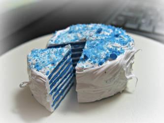 Blueberry Cream cake by cupcakecutiefriends