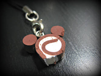 Mickey Mouse Cake Roll Charm by cupcakecutiefriends