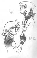 Kairi and Riku by ViciouzCriss10