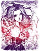 Scarlet Witch by ArucardPL