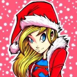 Christmas Supergirl by ArucardPL
