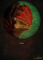 Mass Effect Poster: Wrex by JohanLeion