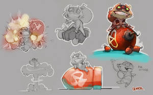 Lol Ziggs Sketches! by osobogly
