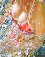 Red Bikini by johnwickart