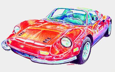 246 GTS by johnwickart