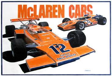 McLaren Cars by johnwickart