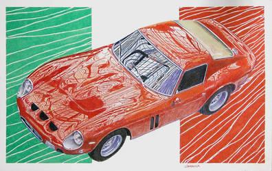 Ferrari GTO by johnwickart