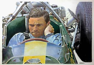 Jim Clark 1964 by johnwickart
