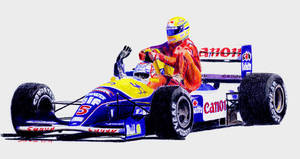 Mansel and Senna by johnwickart