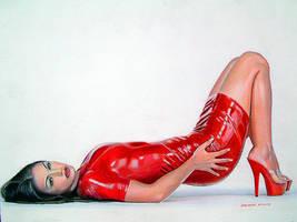 Red Vinyl by johnwickart