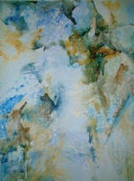 Collage in Blue and Brown by p-e-a-k