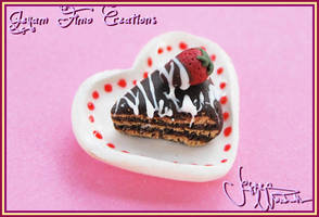 Chocolate cake slice by Jeyam-PClay