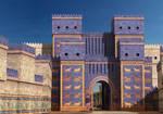 Ishtar Gate by YamaLlama1986