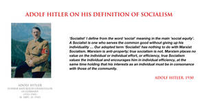 Adolf Hitler - on his definition of socialism by YamaLlama1986