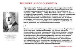 Robert Michels - iron law of oligarchy by YamaLlama1986
