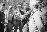 Chetnik leader Draza Mihailovic with Americans by YamaLama1986