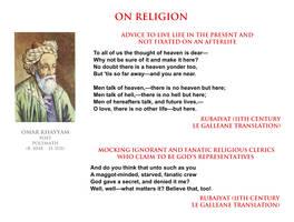 Omar Khayyam - on religion by YamaLlama1986